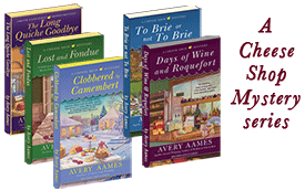 Picture of the book of the Cheese Shop Mystery series books.