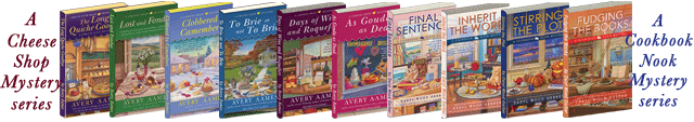 Picture of the books by Daryl Wood Gerber and Avery Aames.